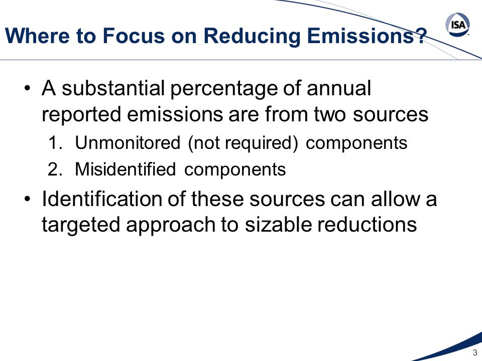 Where to Focus on Reducing Emissions