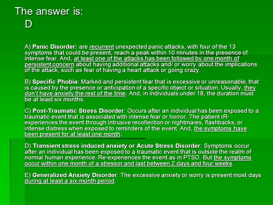 The answer is: D.