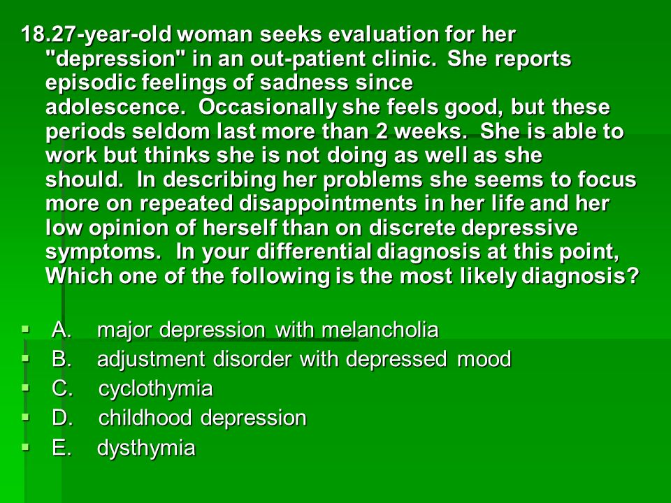 Depression and feelings of exclusion