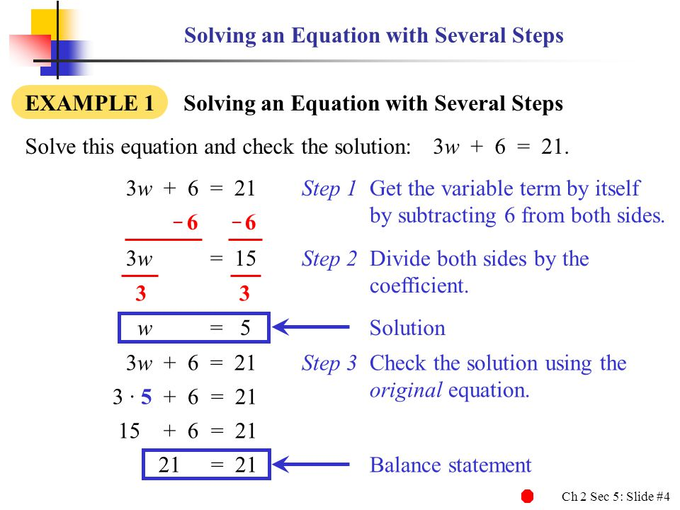 Solving an Equation with Several Steps