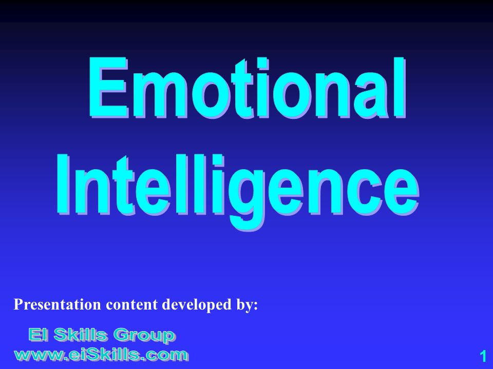 Emotional Intelligence EI Skills Group