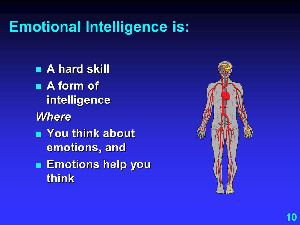 Emotional Intelligence is: