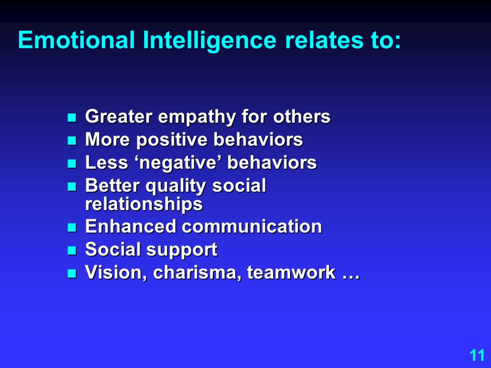 Emotional Intelligence relates to:
