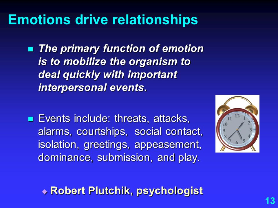 Emotions drive relationships