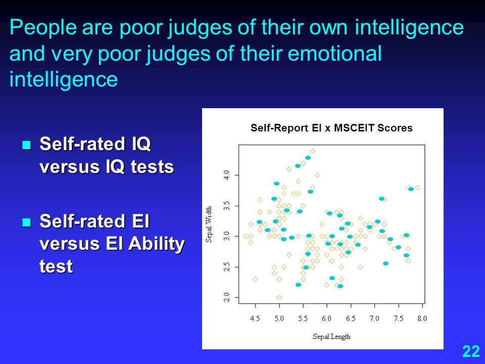 Self-Report EI x MSCEIT Scores