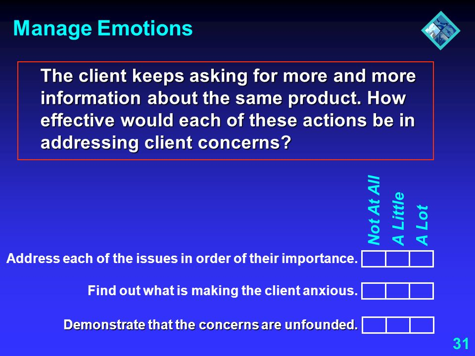 Manage Emotions