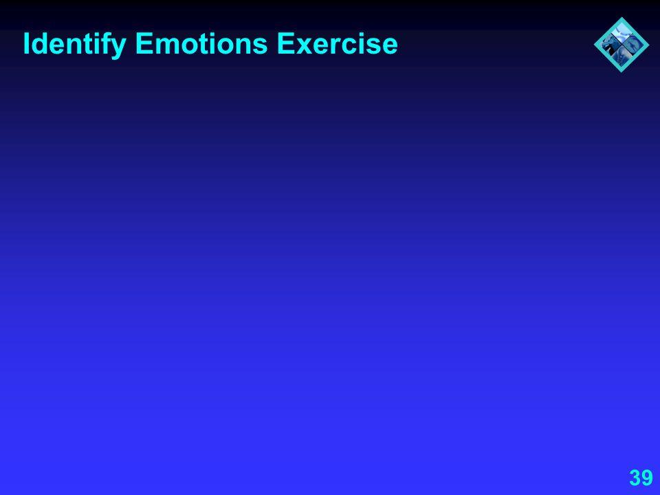 Identify Emotions Exercise