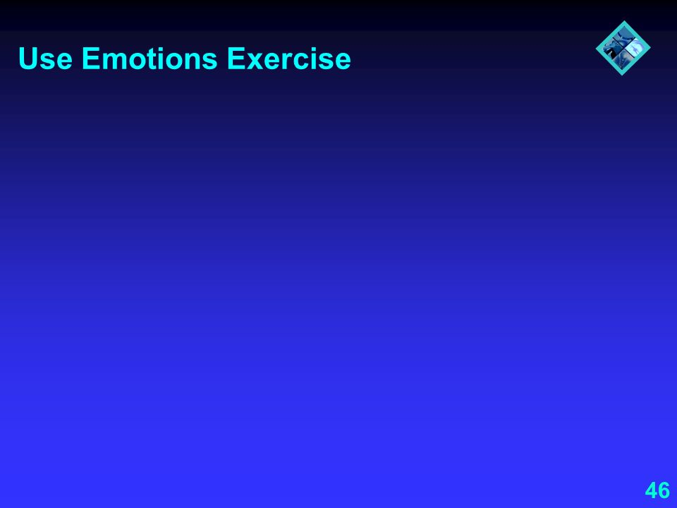 Use Emotions Exercise