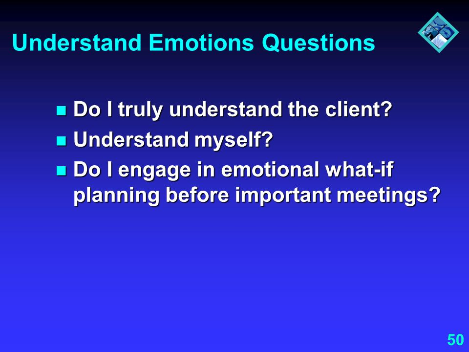 Understand Emotions Questions
