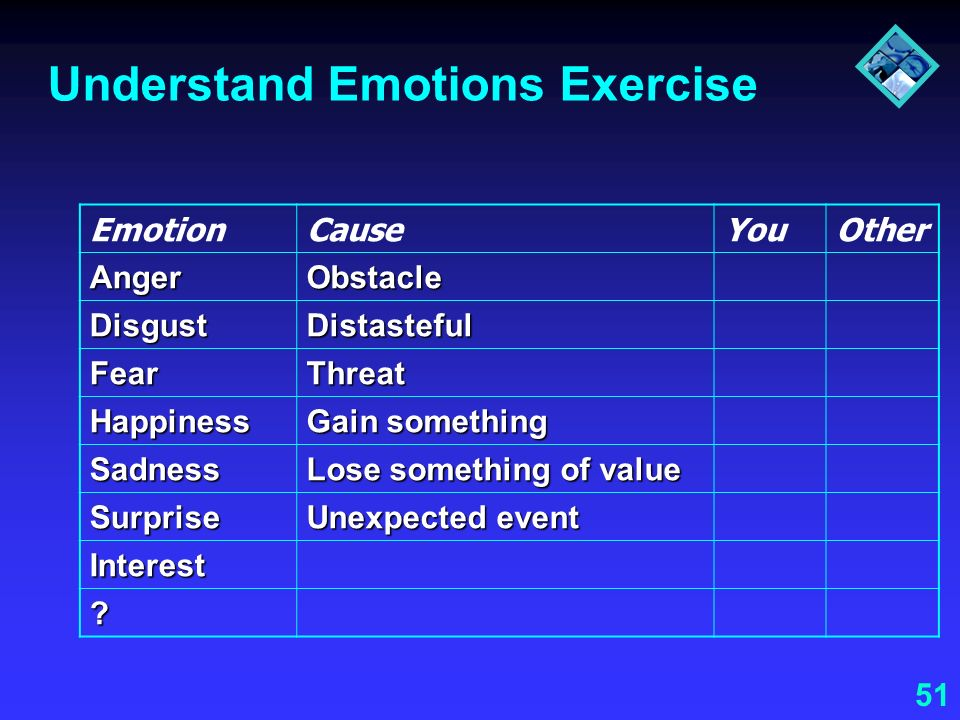Understand Emotions Exercise