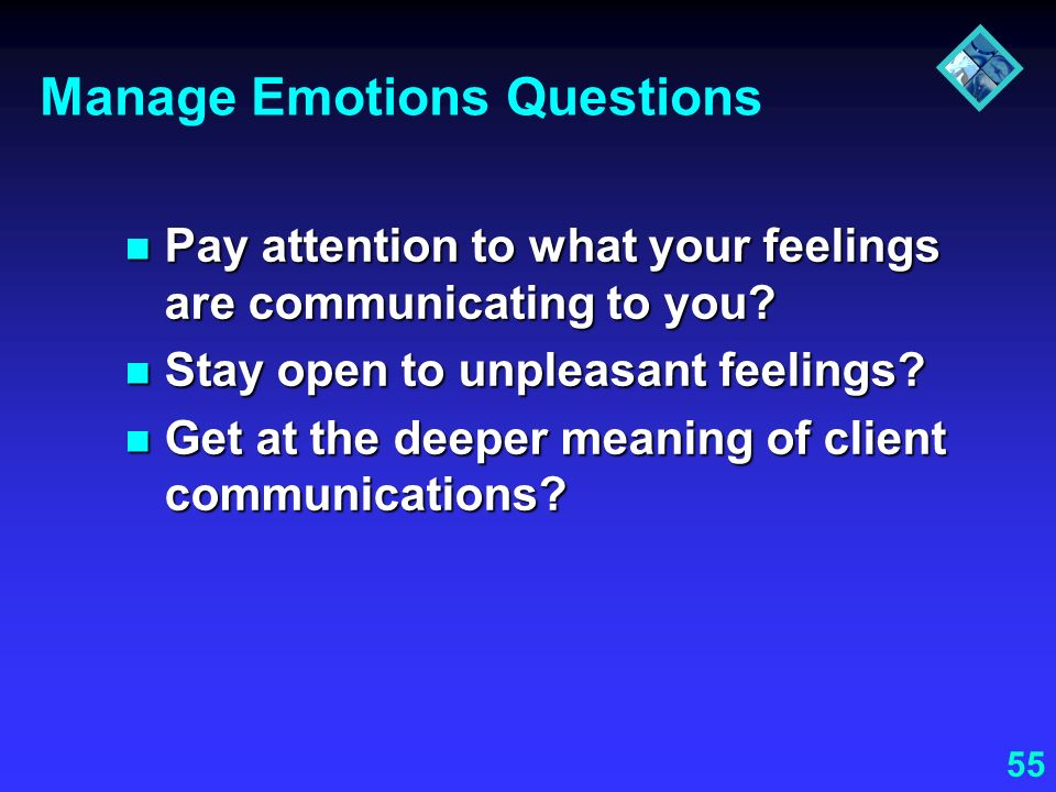 Manage Emotions Questions