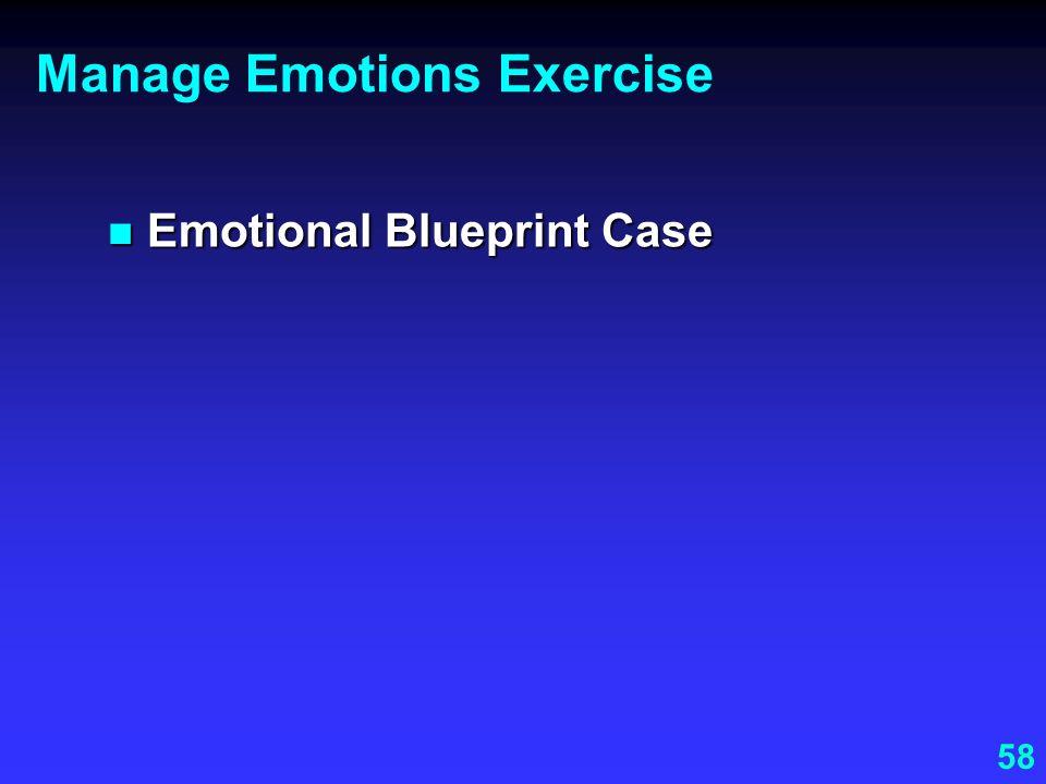 Manage Emotions Exercise