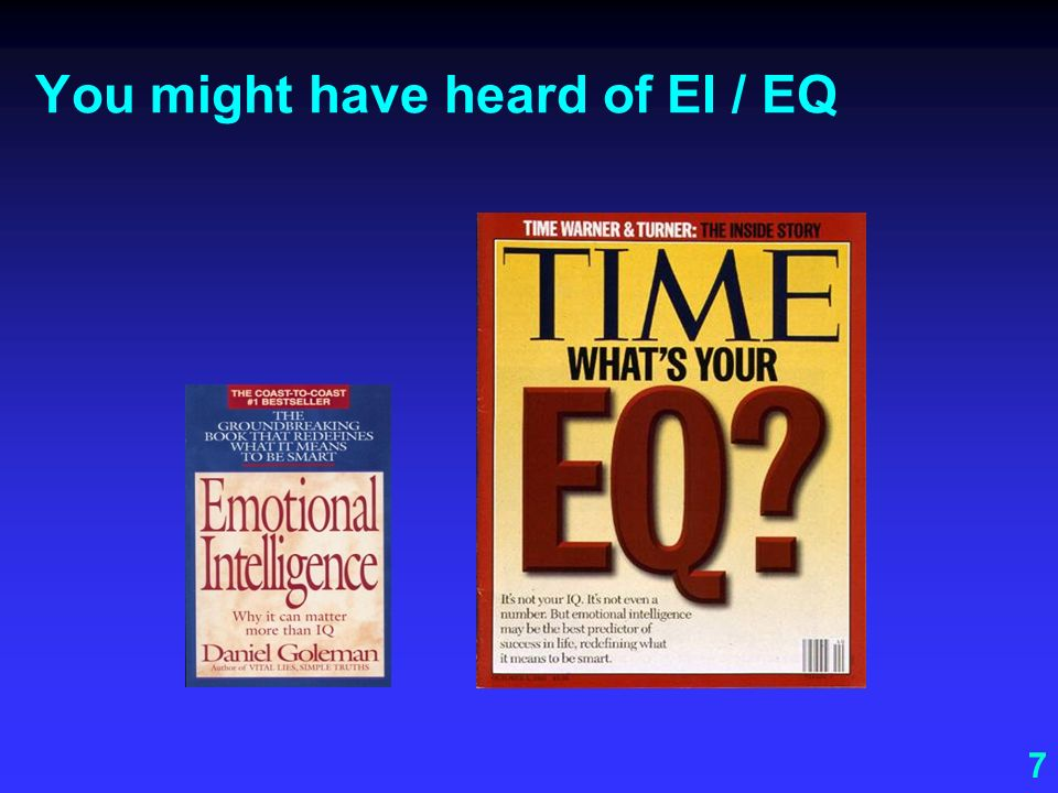 You might have heard of EI / EQ