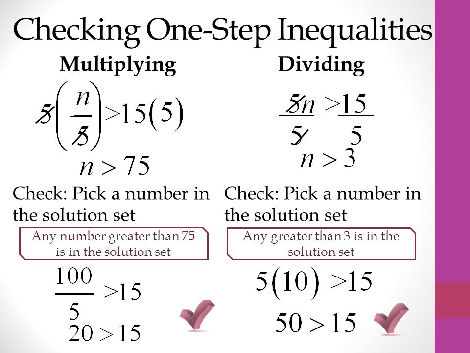 Checking One-Step Inequalities