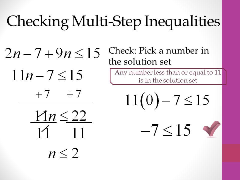 Checking Multi-Step Inequalities