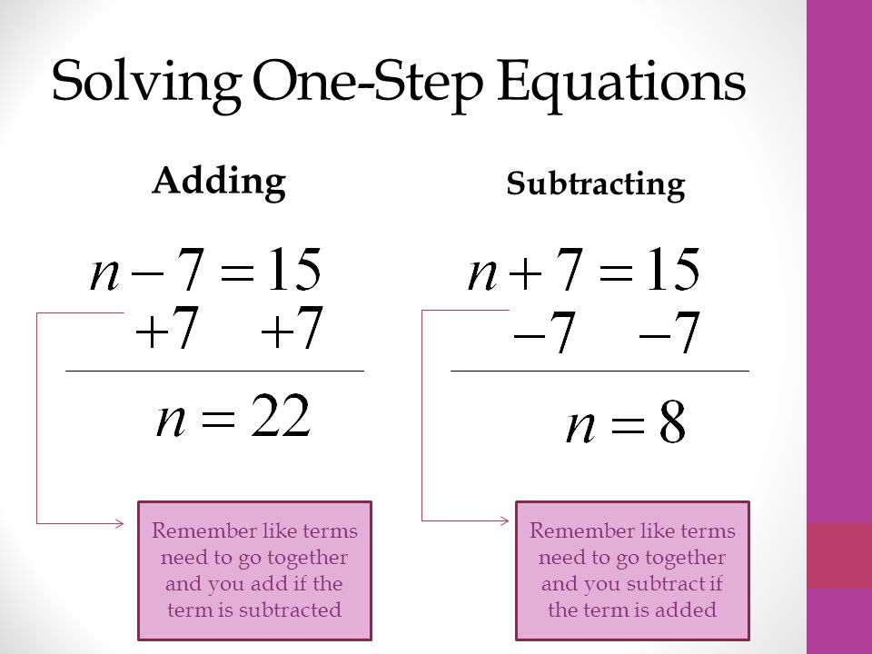 One Step Equations And Inequalities - Nolitamorgan