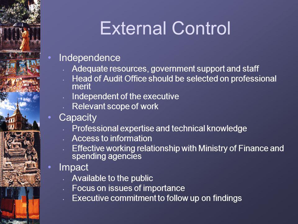 External Control Independence Capacity Impact