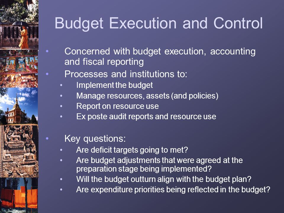Budget Execution and Control