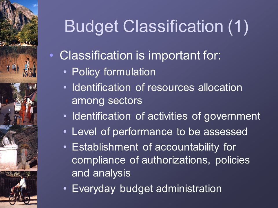 Budget Classification (1)
