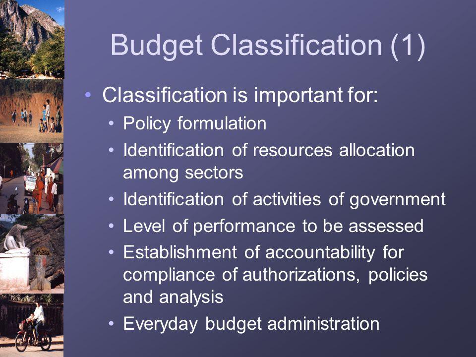 Budget Classification (1)