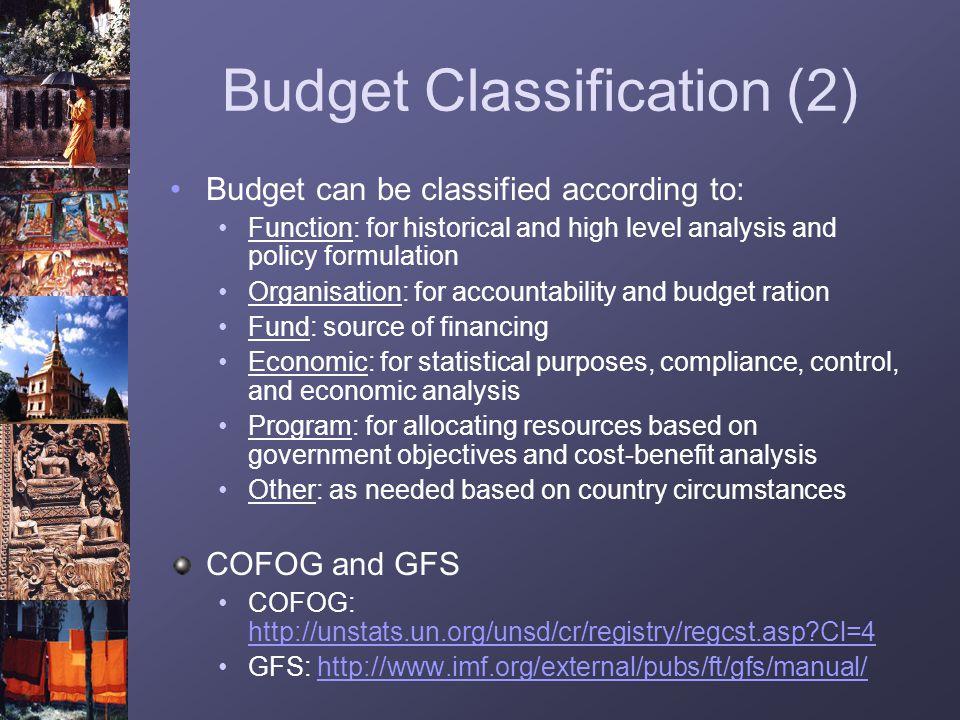 Budget Classification (2)