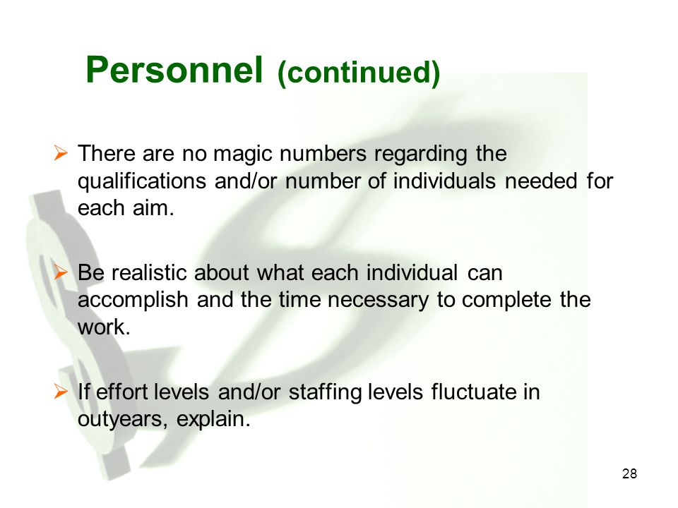 Personnel (continued)