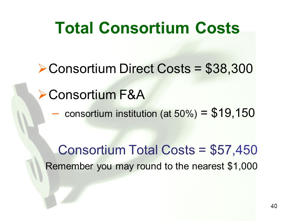 Total Consortium Costs
