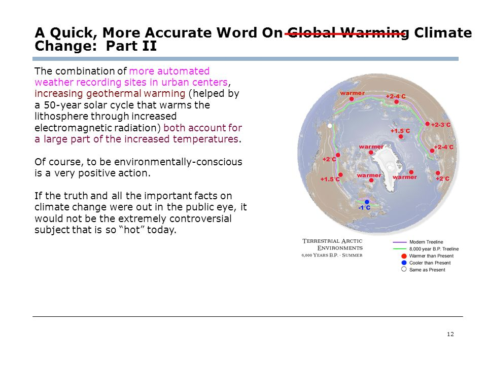 A Quick, More Accurate Word On Global Warming Climate Change: Part II