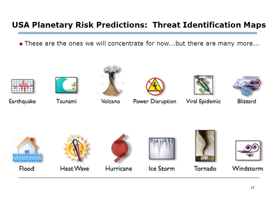 USA Planetary Risk Predictions: Threat Identification Maps