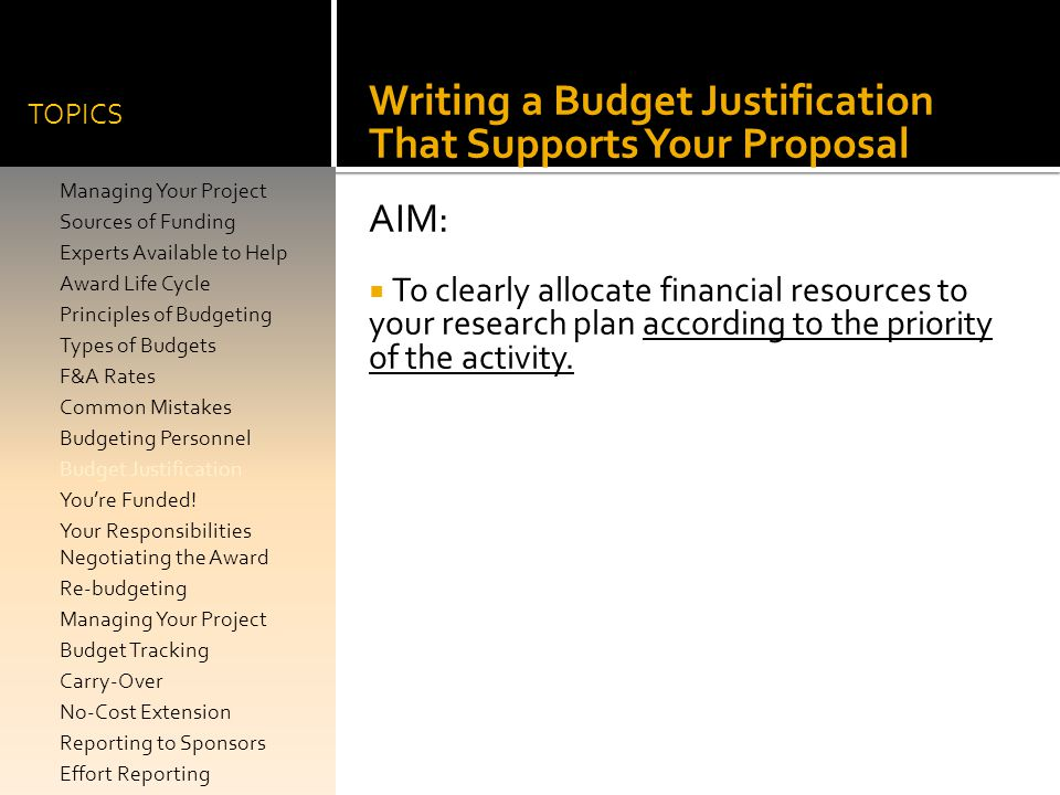 Writing a Budget Justification That Supports Your Proposal