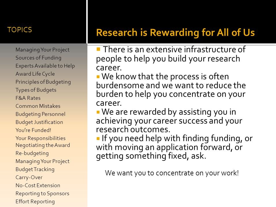 Research is Rewarding for All of Us