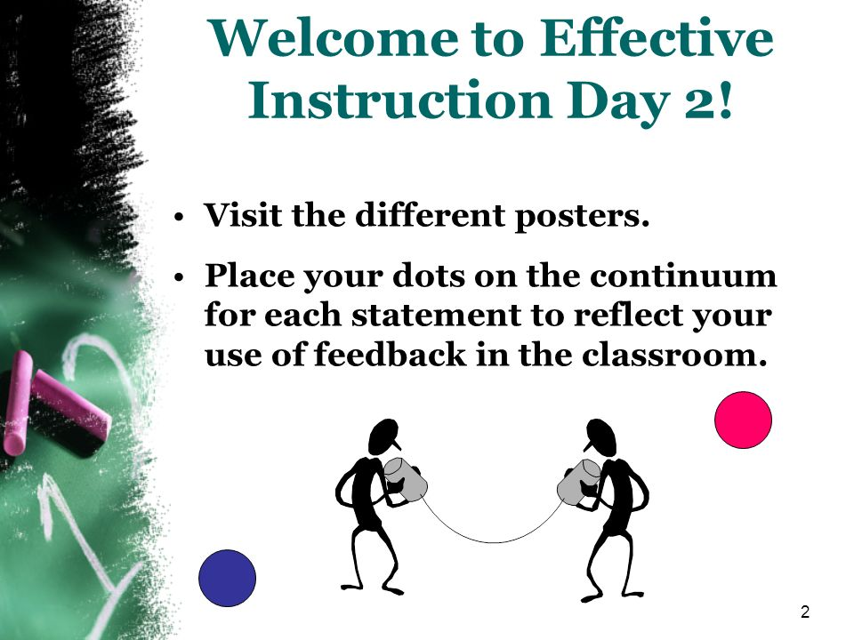 Welcome to Effective Instruction Day 2!