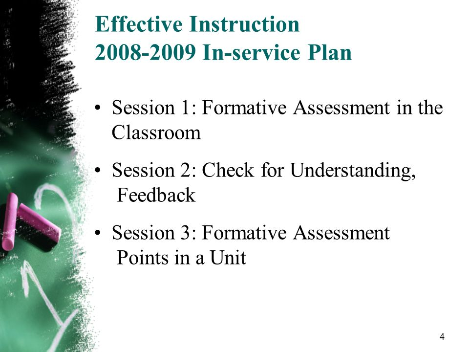 Effective Instruction 2008-2009 In-service Plan