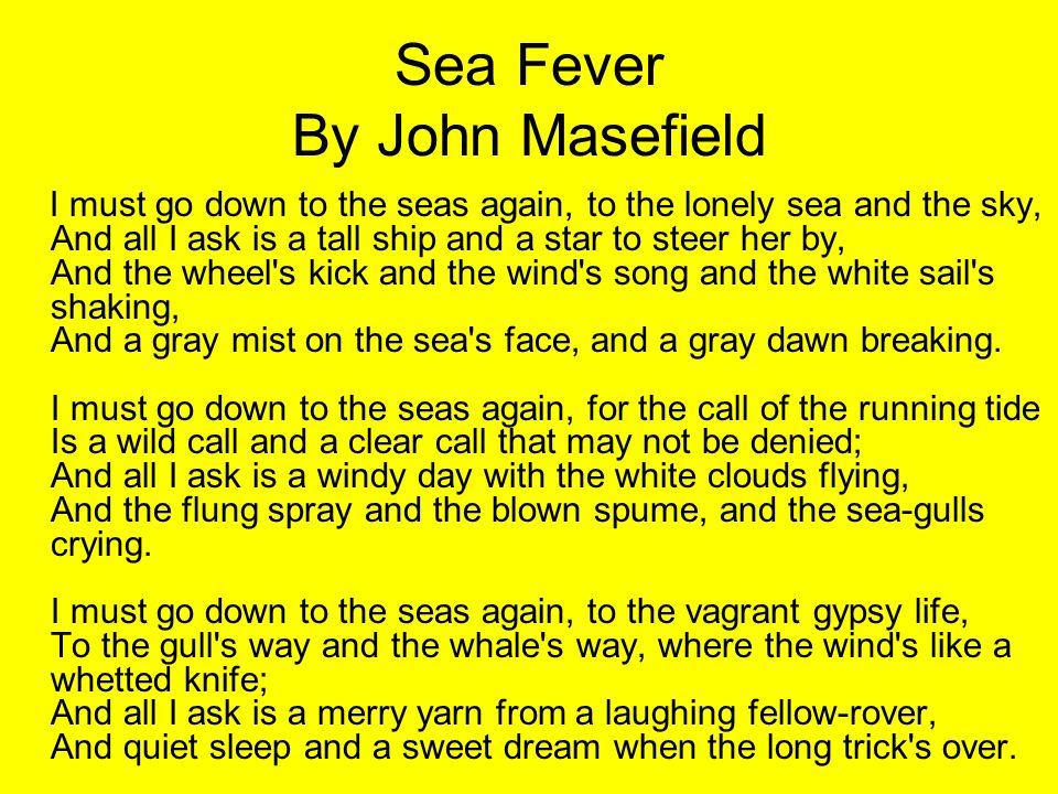 Sea Fever By John Masefield