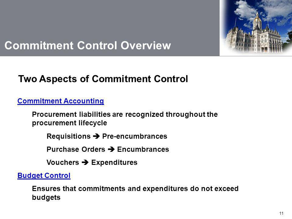 Commitment Control Overview