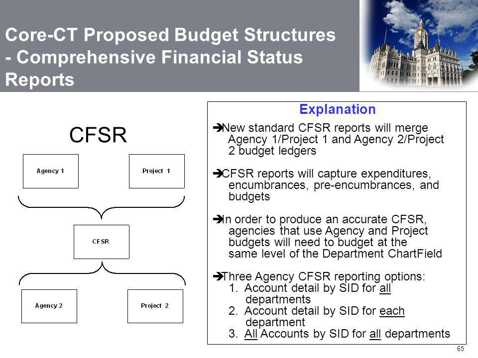 Core-CT Proposed Budget Structures - Comprehensive Financial Status Reports