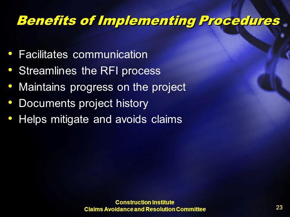 Benefits of Implementing Procedures