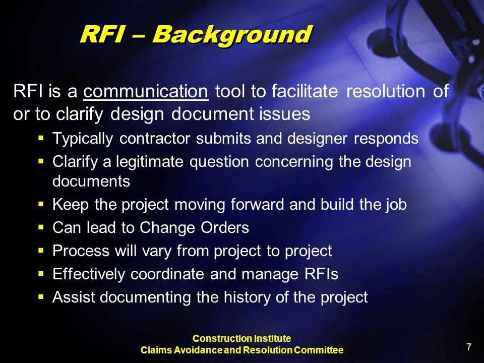 Construction Institute Claims Avoidance and Resolution Committee