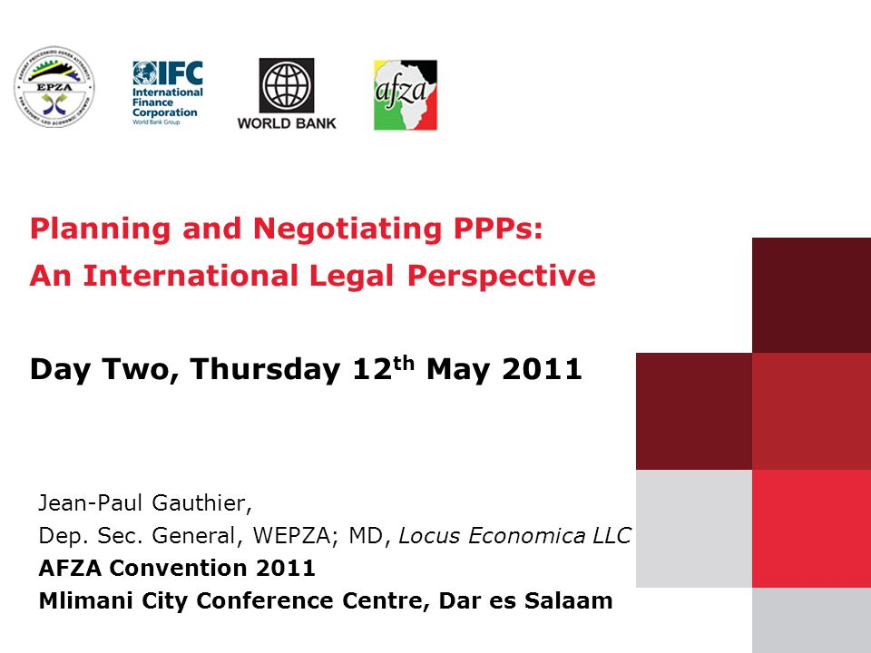 Planning and Negotiating PPPs: An International Legal Perspective