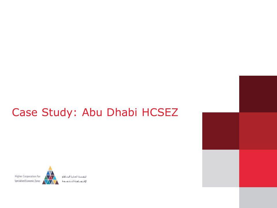 Case Study: Abu Dhabi HCSEZ