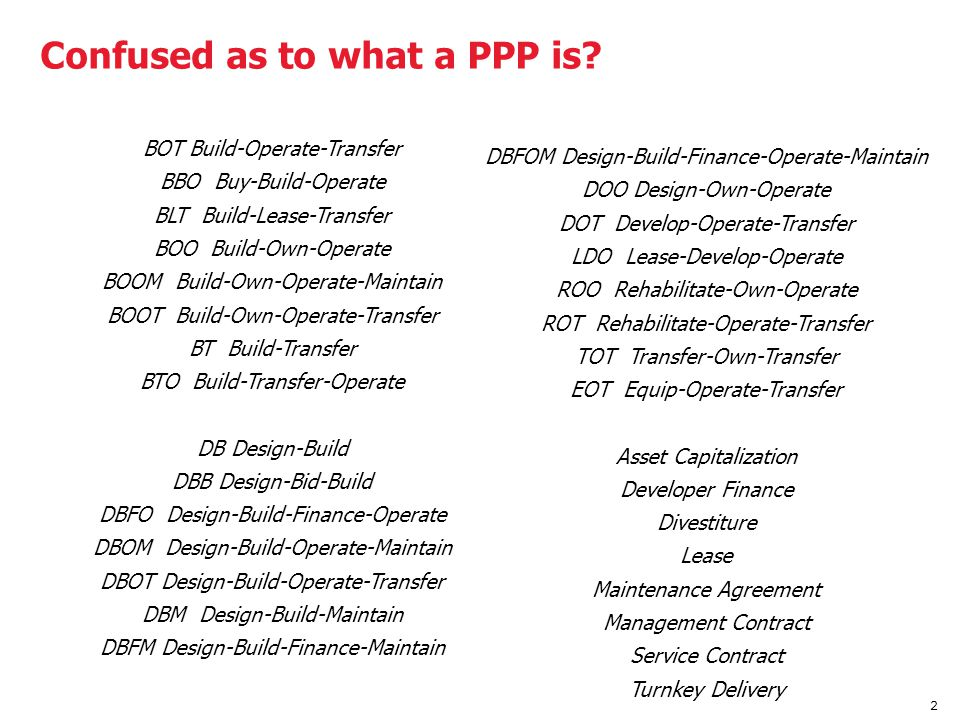 Confused as to what a PPP is