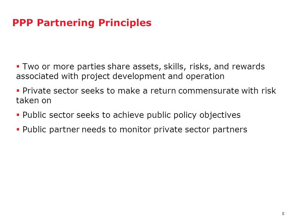 PPP Partnering Principles
