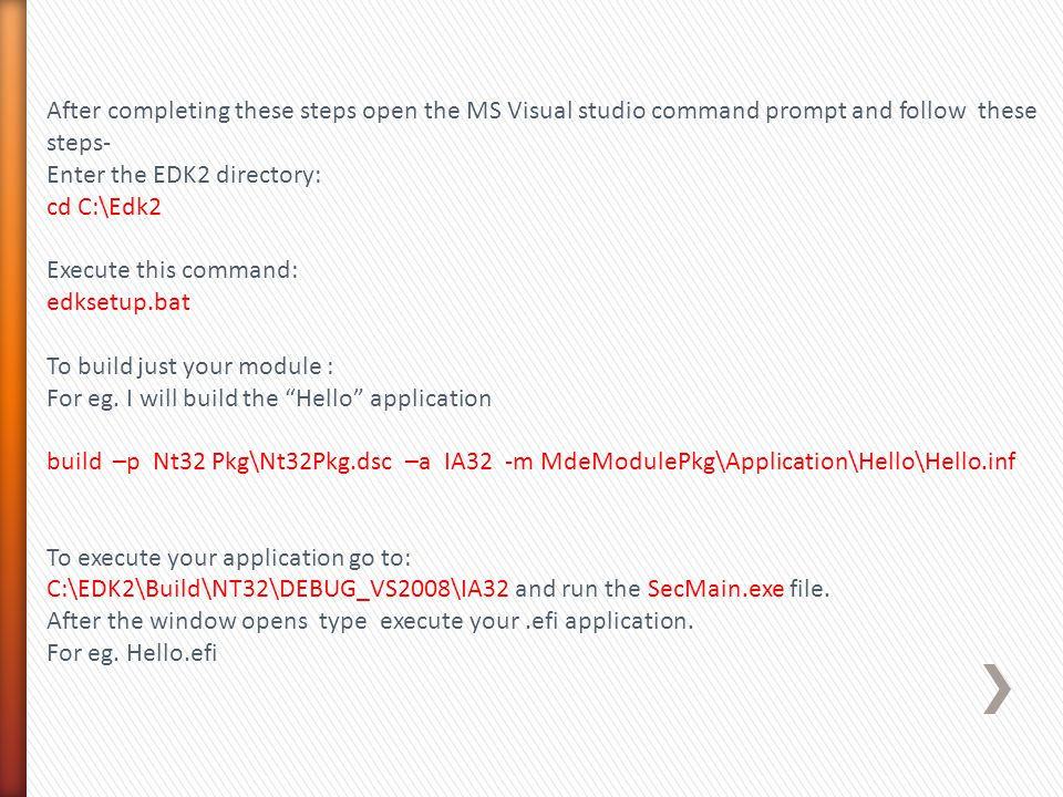 After completing these steps open the MS Visual studio command prompt and follow these steps-