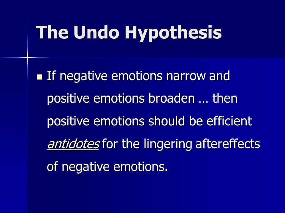 The Undo Hypothesis