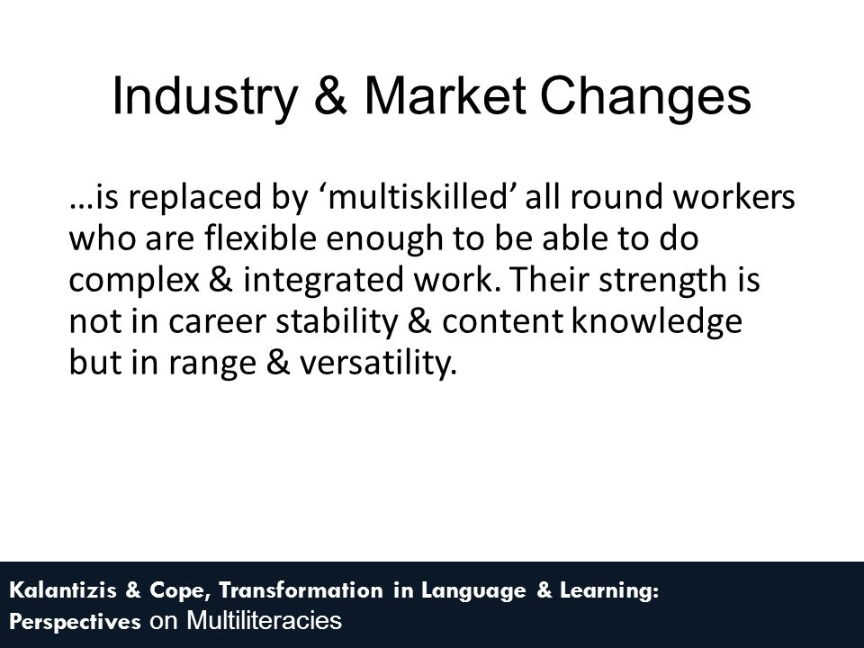 Industry & Market Changes