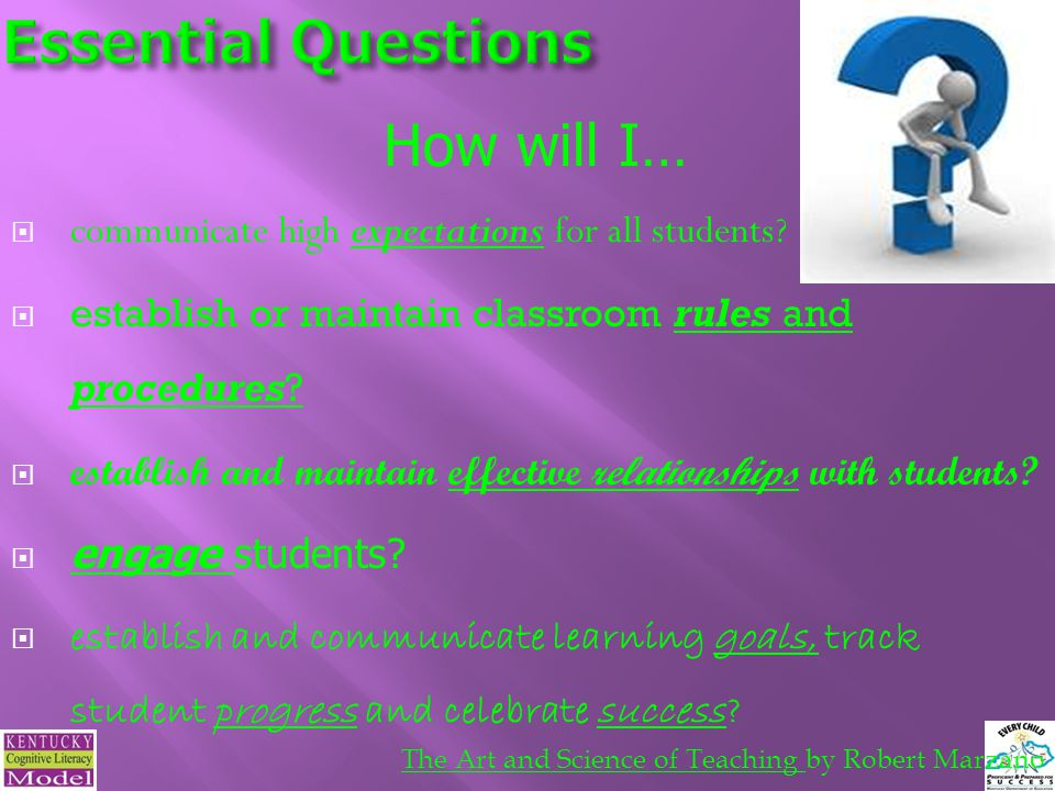 Essential Questions How will I…