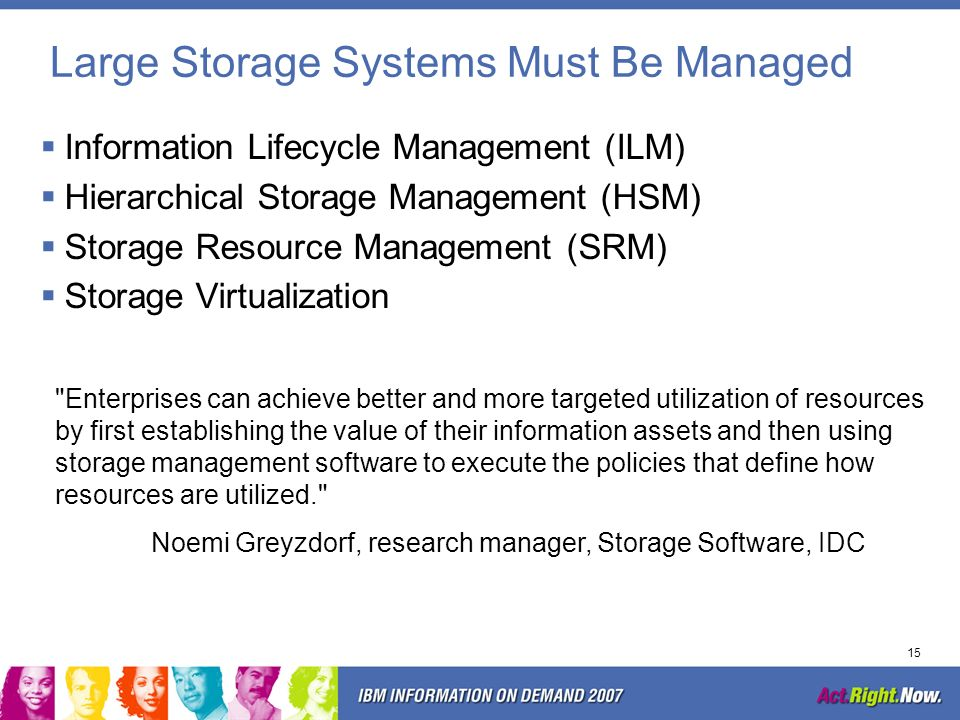 Large Storage Systems Must Be Managed
