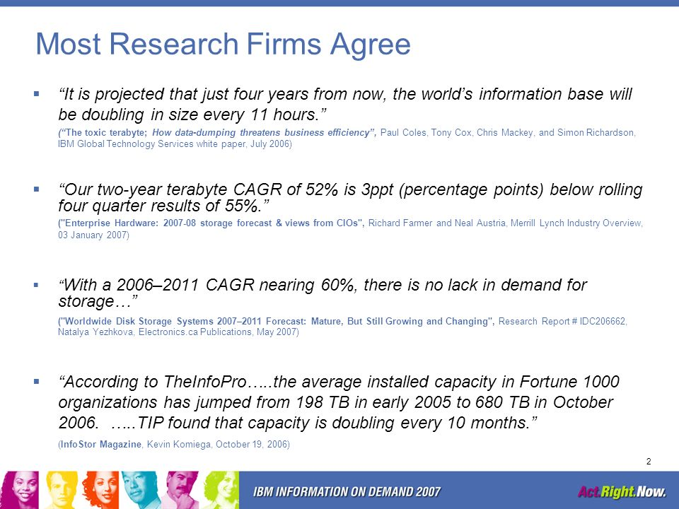 Most Research Firms Agree