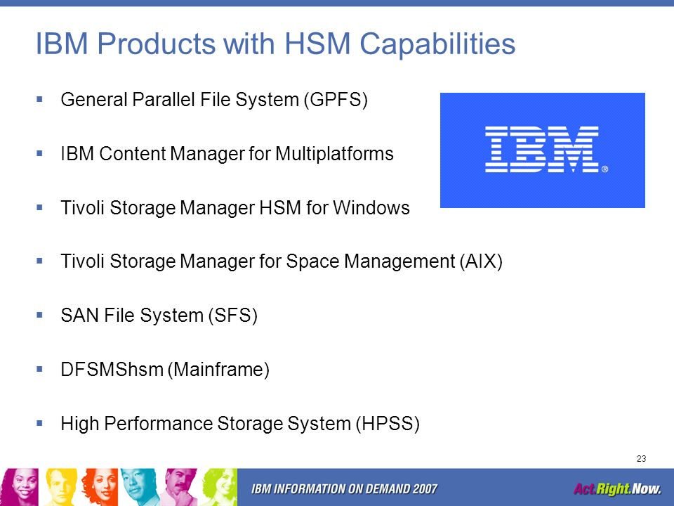 IBM Products with HSM Capabilities