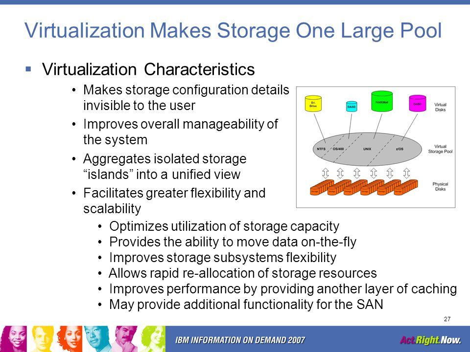 Virtualization Makes Storage One Large Pool